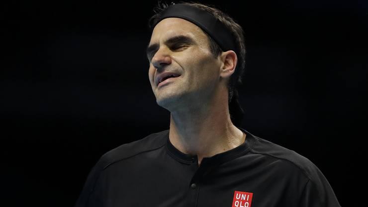 Roger Federer scheiterte an den ATP Finals an Stefanos Tsitsipas.