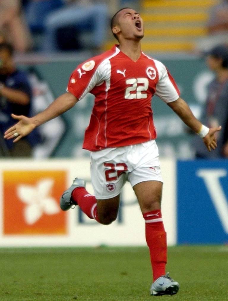 2004 schoss Johann Vonlanthen das einzige Schweizer Tor der Euro.