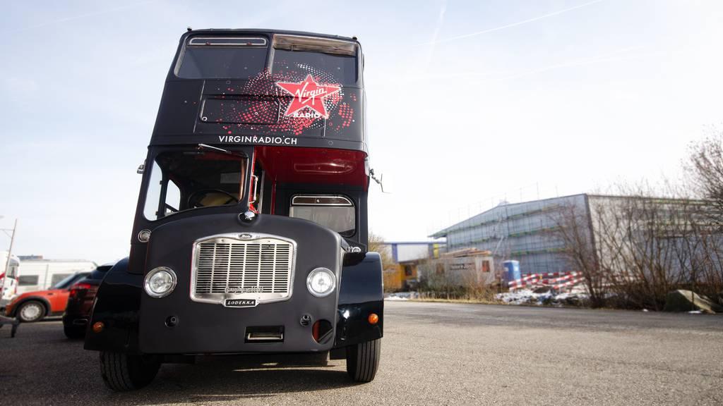 Endlich ist der Virgin Radio Londonbus da!
