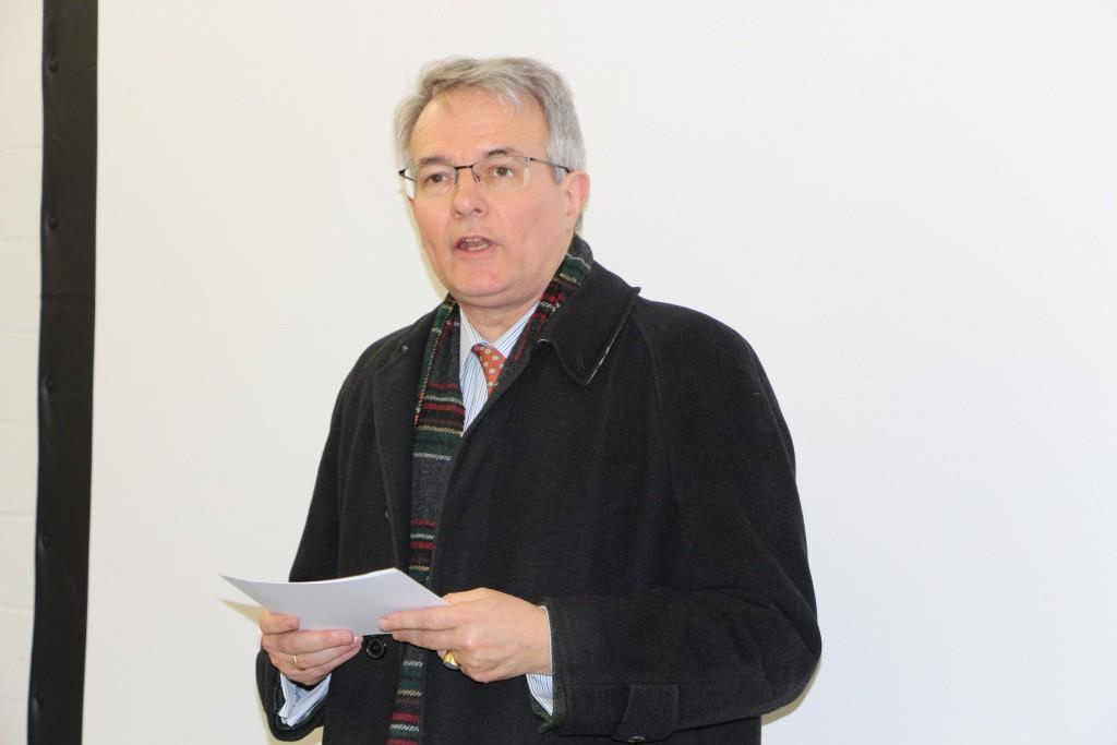 Der Glarner Ständerat und Verwaltungsratspräsident der SN Energie AG, Thomas Hefti, lobte das Projekt. (© FM1Today/Dumeni Casaulta)