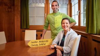 Das neue Wirteteam mit Gallus Knechtle und Melanie Gmünder
