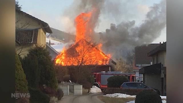 Riesiger Schaden nach Brand in Zollbrück