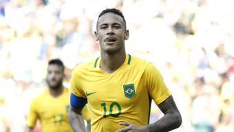 Von Neymar erwarten die Brasilianer in Rio den Titel.
