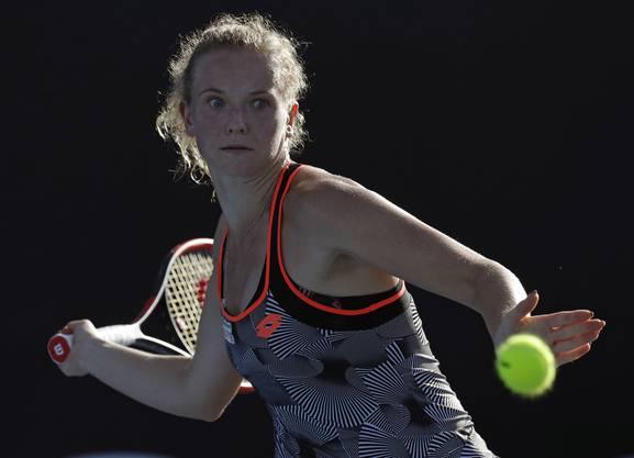 Die beiden Spielerinnen lieferten sich in der australischen Mittagssonne einen fast 2-stündigen Abnützungskampf.