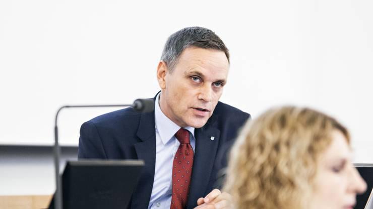 Regierungsrat Jean-Pierre Gallati und Gesundheitschefin Barbara Hürlimann werden im Frühling ihre strategischen Ziele für das Aargauer Gesundheitswesen präsentieren – auch dies unter dem Eindruck von Corona. (Archivbild)
