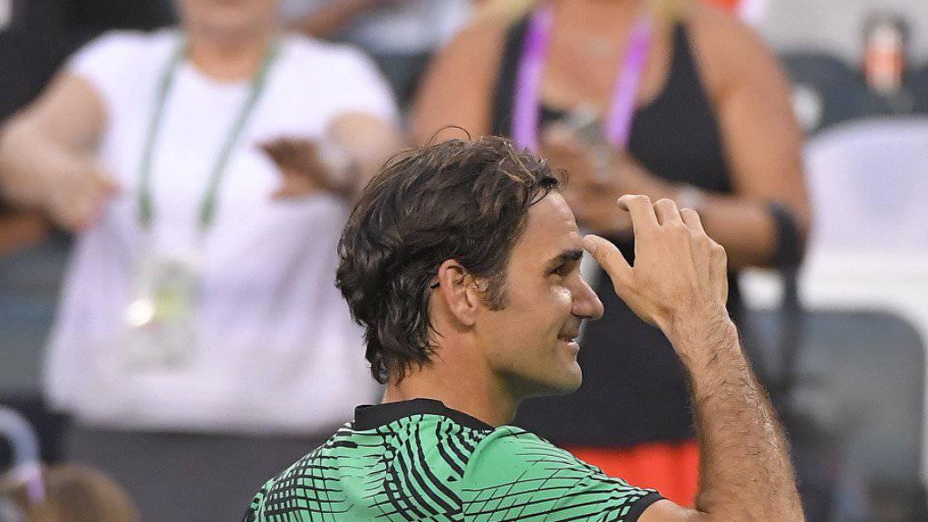 Roger Federer gewinnt 7:6, 7:6 und seine ganze Familie inklusive Eltern und den vier Kindern schauten zu