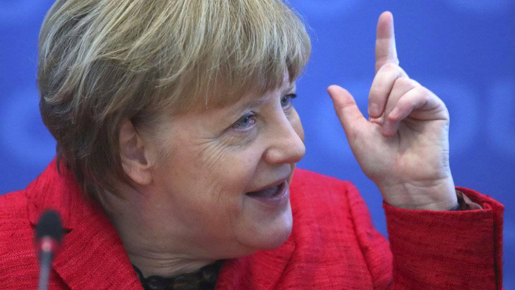 Angela Merkel am Montag in Berlin.