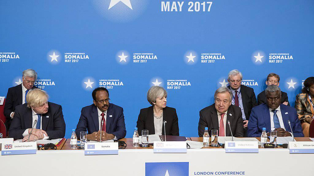 Somalia, die UNO, die Afrikanische Union und Grossbritannien riefen in London die internationale Gemeinschaft auf, mehr Geld in die Stabilität des Krisenstaats am Horn von Afrika zu investieren.