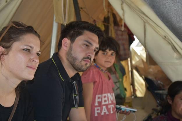 Langjährige Weggefährten: 2016 besuchten Meyer und Wermuth nordgriechische Flüchtlingscamps.