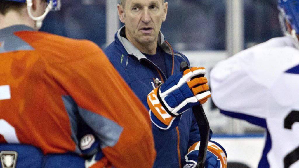 Ralph Krueger 2013 als Trainer der Edmonton Oilers