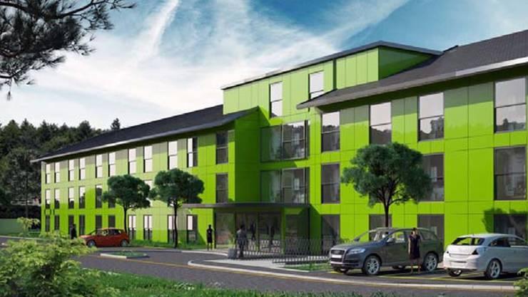 Projekt «Allegro»: Wie auf dieser Visualisierung hätte sich das Hotel im Gebiet Dägerli an der Mülligerstrasse dereinst präsentieren sollen. zvg