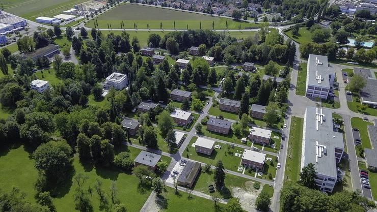Der Bata-Park in Möhlin aus der Luft (2017).
