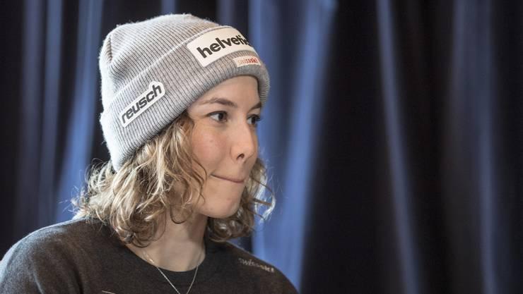 Michelle Gisin wird an der am Dienstag beginnenden Ski-WM in Are (Schweden) nur Zuschauerin sein.