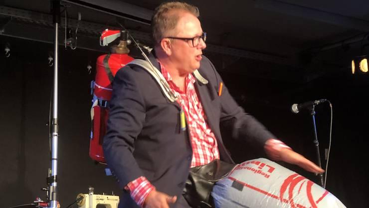 Stefan Heuss stellte am Samstag sein Innovationsorchester im Gleis 21 in Dietikon vor.