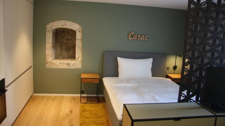 """Ein weiteres Hotelzimmer in der """"Konditorei""""."""