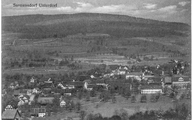 Am 14. Mai 1921 wurde diese Postkarte von Maria Schmid in Sarmenstorf an Rosa «Röschen» Schmidli in Dottikon geschickt.