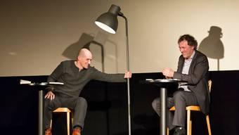 Jens Nielsen (l.) und Stefan Waghubinger im Kino Capitol Olten.