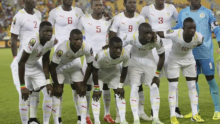 Senegals Nationalteam, hier am Afrika-Cup 2015, sichert sich das WM-Ticket mit einem Sieg im Wiederholungsspiel gegen Südafrika