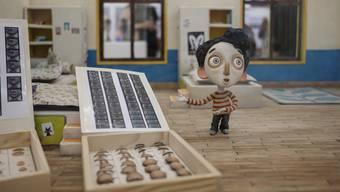 Hat das Zeug zum Publikumsliebling: Die kleine Puppe Ahmed aus dem Oscar-nominierten Animationsfilm «Ma vie de Courgette» im Kunstraum Baden.