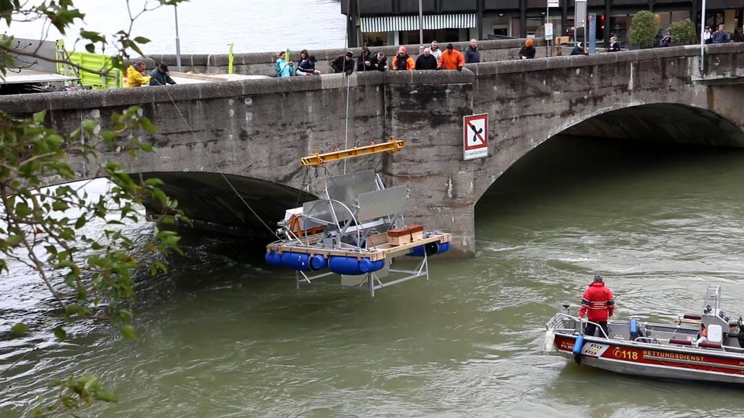 In Rheinfelden wird das Wasserrad für die Expo 2019 gewassert.