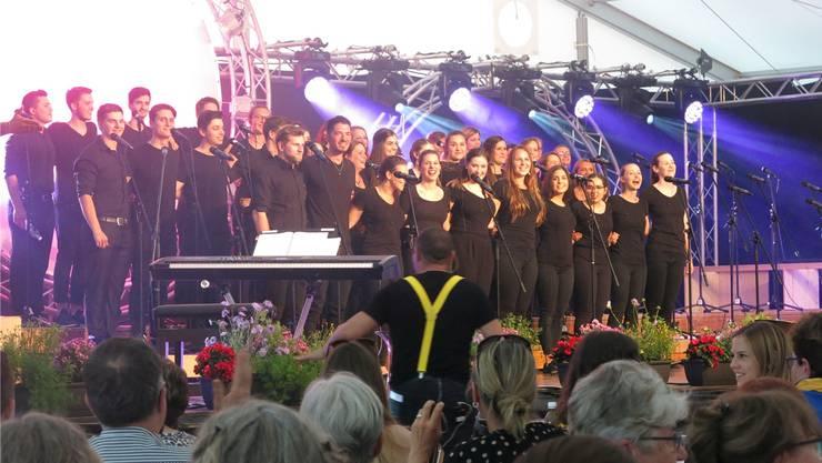 Der Jugendchor Sing-together aus Mellingen wurde 2008 gegründet und zählt heute 40 Mitglieder. zvg