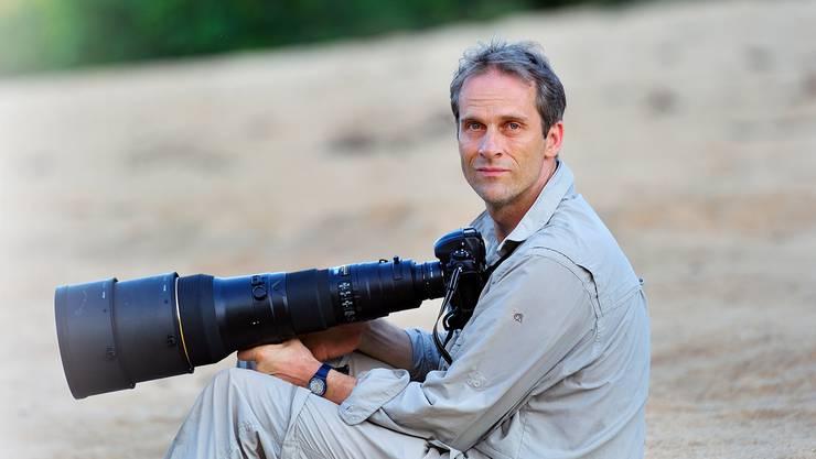 Profifotograf Thomas Marent während seiner Reise nach Guyana im Jahr 2011.