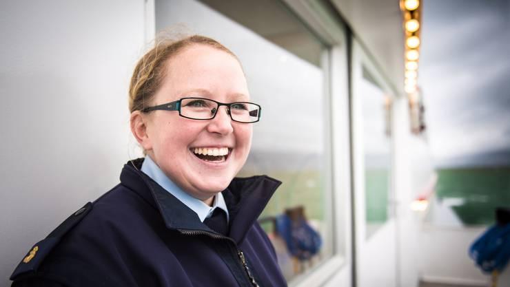 Patricia Elsener (32) hat bei der Bielersee Schifffahrtsgesellschaft als Matrosin ihr berufliches Glück gefunden.
