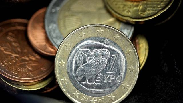Griechische Euro-Münze (Archiv)
