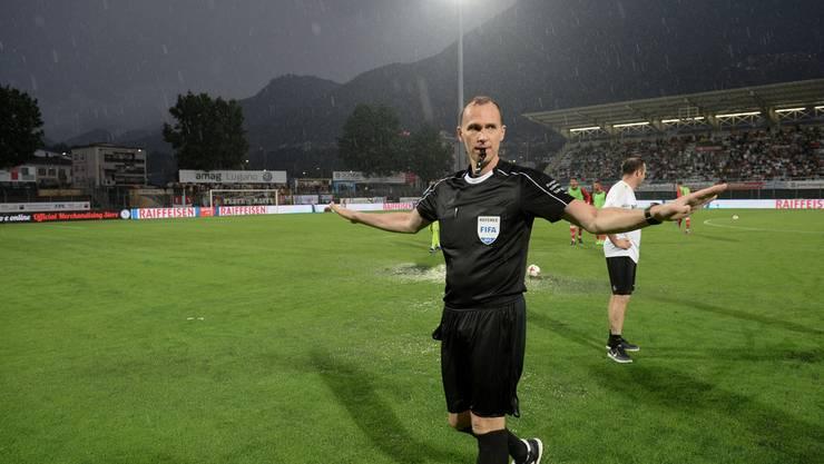 Schiedsrichter Sascha Amhof beendete das Spiel.