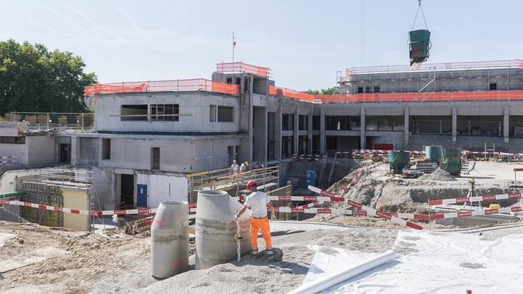 In der Mitte des «Tägi» entsteht ein neuer Eingangsbereich.