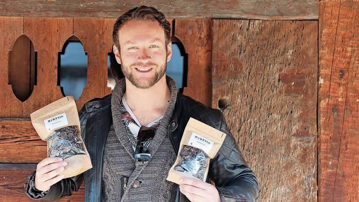 Thomas Unger setzt auf Bio-Futter für Hunde. Denn immer mehr Hündeler wollen Qualität beim Essen für den Vierbeiner, sagt er.