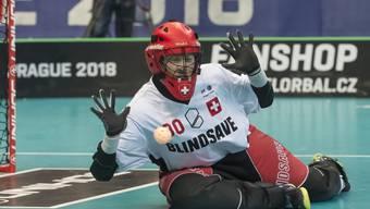 Pascal Meier im Halbfinalspiel gegen Schweden