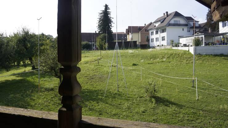 Auf der Dorfmatte in Aeschi soll eine Überbauung entstehen.
