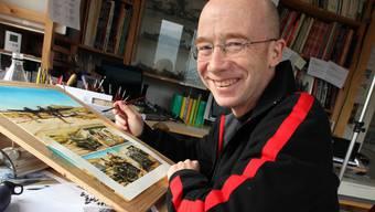 Der Balsthaler Comic Zeichner Franz Zumstein (50) arbeitet derzeit am dritten Band der Reihe «Faucon du desert», die in Frankreich sehr erfolgreich ist.