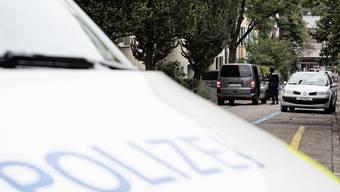 Eine Polizeiaktion im September vor der König-Faysal-Moschee in Basel. (Archivbild)