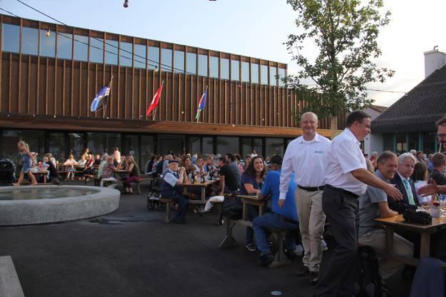 In Hausen findet die Bundesfeier am 31. Juli und zum ersten Mal auf dem neu gestalteten Dorfplatz vor der Mehrzweckhalle statt.