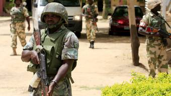 Nigerianische Soldaten im Einsatz gegen Boko Haram (Archiv)
