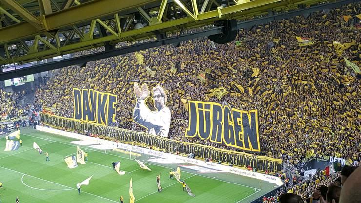 Abschiedsspiel von Jürgen Klopp. Letztes Saisonspiel 2014 2015 gegen Werder Bremen am Samstag, 23. Mai 2015.