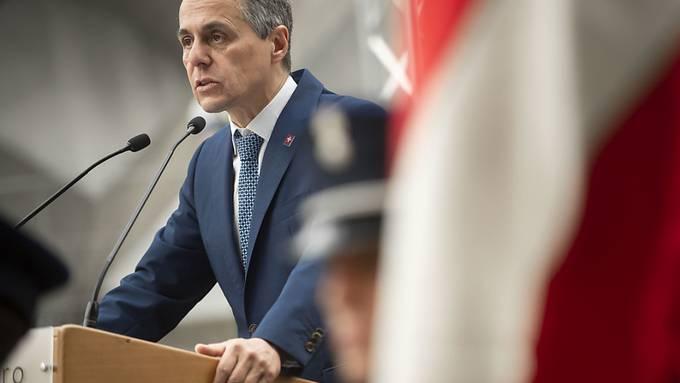 Ein Departementswechsel kommt für ihn nicht in Frage: Aussenminister Ignazio Cassis (FDP). (Archivbild)