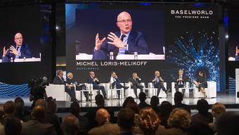 """Trotz weniger Ausstellern und Besuchern zeigt sich Baselworld-Chef Michel Loris-Melikoff überzeugt: """"Es braucht die Baselworld."""""""
