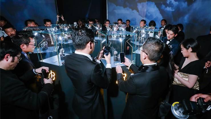 Das Interesse in China scheint vorhanden: Präsentation von Breitling-Uhren letzte Woche in Shanghai.
