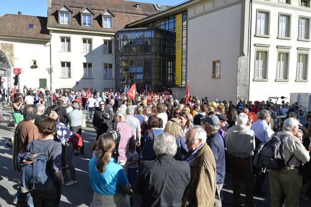 Gut 500 Personen waren an der Kundgebung