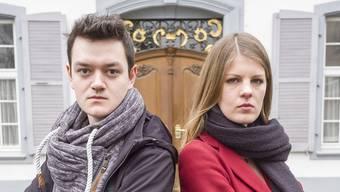 Genug der Nettigkeiten: Die Baselbieter Juso fordert drastische Massnahmen, um den Klimawandel zu stoppen. Auf dem Bild: Nils Jocher (links) und Ronja Jansen (Rechts), das Co-Präsidium der Partei.