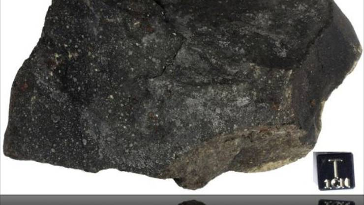 """Dem Murchison-Meteoriten sieht man nicht an, dass er so etwas """"Romantisches"""" wie Sternenstaub enthält. (zVg PNAS)"""