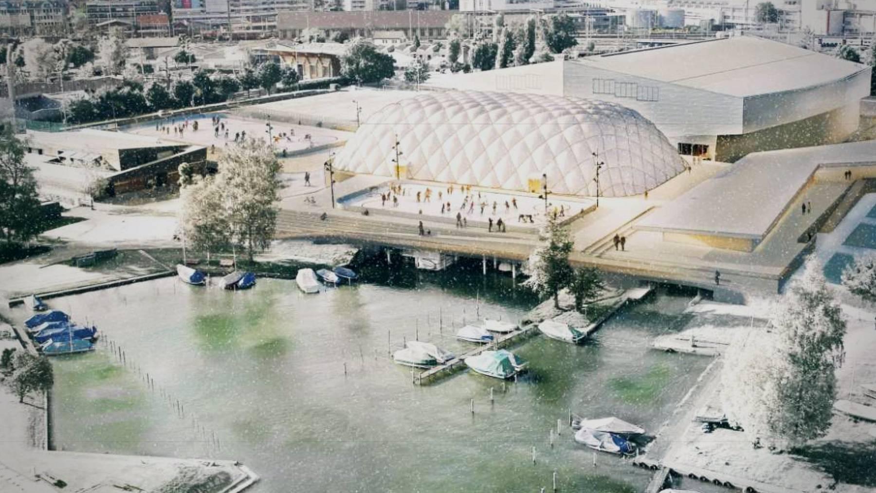 Die geplante Eishalle wird vorerst nicht gebaut.
