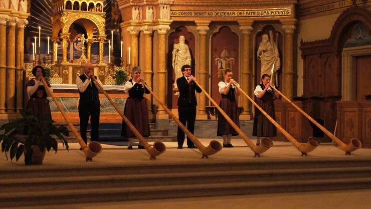 AGL BläserINNEN im Chor der Marienkirche Balsthal