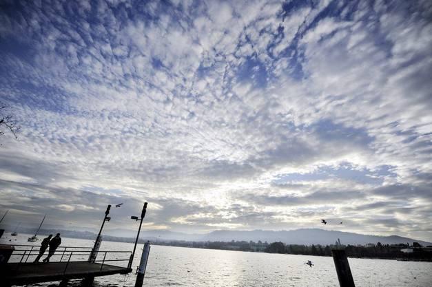 Wolken über dem Zürichsee