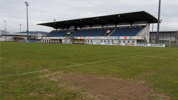 Der Rasen im Stadion Niedermatten ist in einem schlechten Zustand.