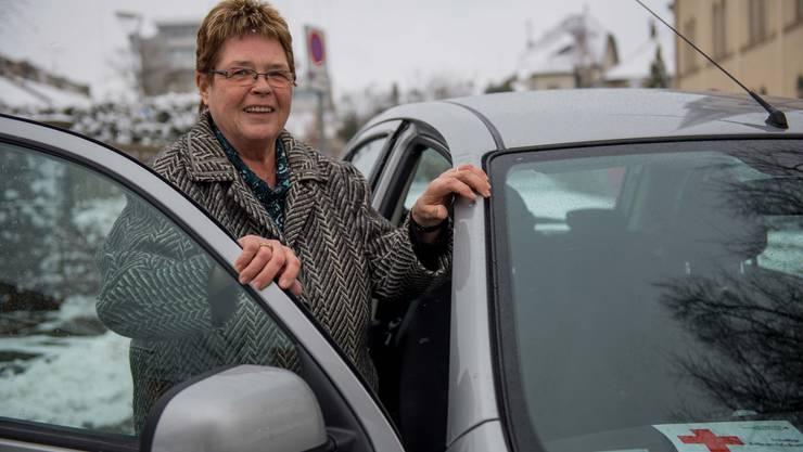 Wendig und freundlich: Rotkreuz-Fahrerin Sylvia Walther aus Schönenwerd.