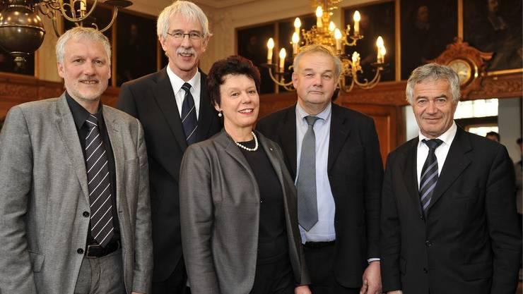 Der Solothurner Regierungsrat in der jetzigen Zusammensetzung. Nächstes Jahr stehen einige Änderungen an.